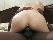 White milf pussy creaming all over black sausage sending her to heaven