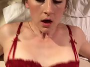 Stunning wifey plowed and creampied