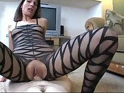 Mature whore gets her cooter creampied during orgy