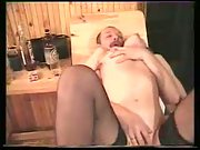 Alina in sauna enjoying three-way sex with her husband and his buddy